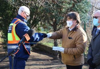 Emlékfákat kaptak a Pest megyei polgárőrök